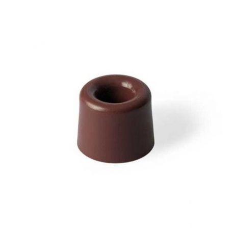 Tope alto de goma marron 30x24mm Kallstrong