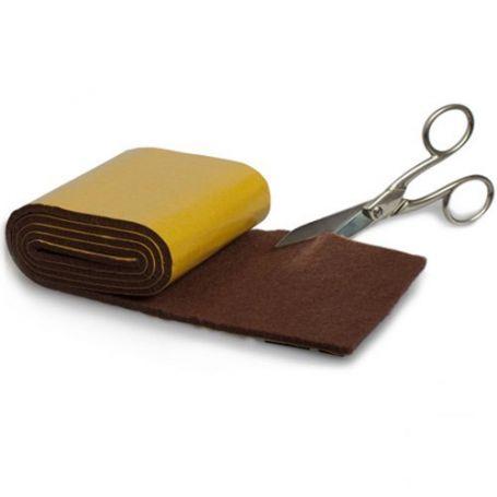 Deslizador fieltro adhesivo marron rollo 85mmx100cm - Rollos adhesivos para muebles ...