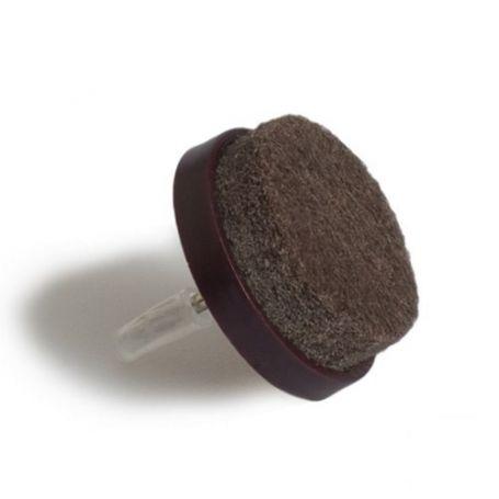 Deslizadores fieltro con clavo diametro 20mm marron