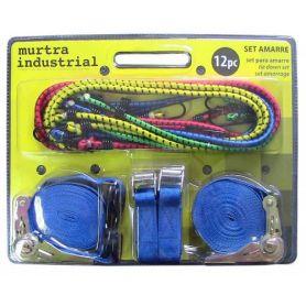 Set 12 piezas para amarre: Brico-Hobby + lote 8 pulpos elasticos Murtra