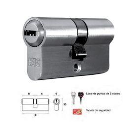 Cilindro de perfil europeo 60mm niquel leva 13.5mm Fac