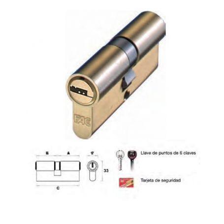 Cilindro de perfil europeo 70mm 35x35mm laton leva 15mm Fac Misma Clave