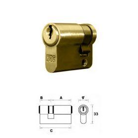 Medio cilindro 40mm 30x10 Laton Fac
