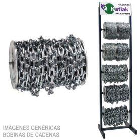 Cadena zincada 10mm bobina 12,5 metros Katiak