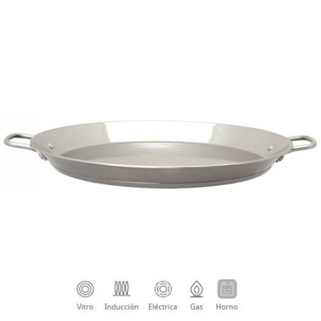 Paellera inoxidable 34cm apta para induccion y horno Optima IMF