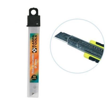 Recambio cortador hoja 9 mm estuche 10 unidades