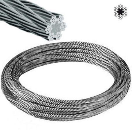 Cable acero galvanizado ø4mm 6x7+1 rollo 25m Cursol