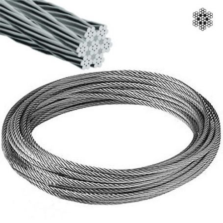 Cable acero inoxidable ø5mm 7x7+0 rollo 15m Cursol