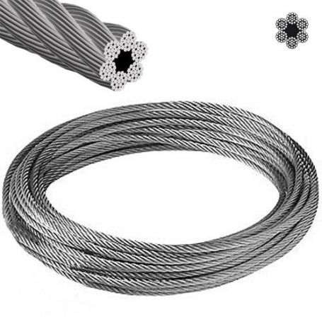 Cable acero galvanizado ø6mm 6x19+1 rollo 25m Cursol