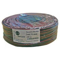 Cable paralelo 2x0,75 bicolor rojo y negro