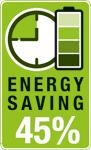 Las brocas AKKU TOP pueden llegar a ahorrar hasta 45% de la energía. AKKUTOP energy saving 45%. AKKU-TOP ahorro energético kwb