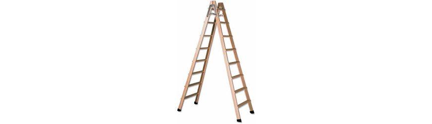Escaleras de mano de madera para pintor bricolemar for Escaleras ferral