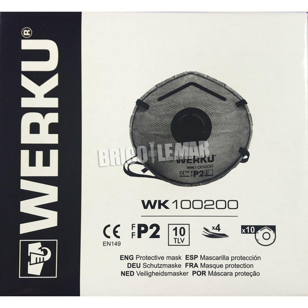 10xTLV Schutzmaske FFP2-Box 10 Einheiten Werku WK100200 ...