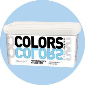 plastique bleu doux peindre 2,5 lt. mat intérieur Materis