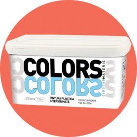 Peinture plastique corail 2,5 lt. mat intérieur Materis