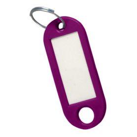 Porte-étiquette violette clé (sac 50 unités) cufesan