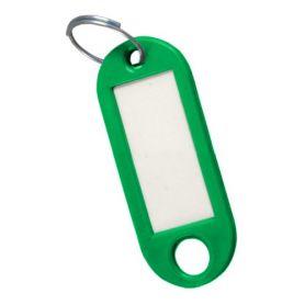 Porte-étiquette verte de clé (sac 50 unités) cufesan