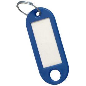 Porte-étiquette bleu clé (sac 50 unités) cufesan