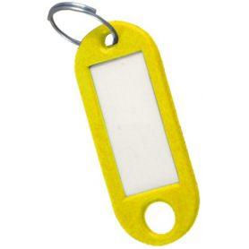 Porte-étiquette jaune clé (sac 50 unités) cufesan