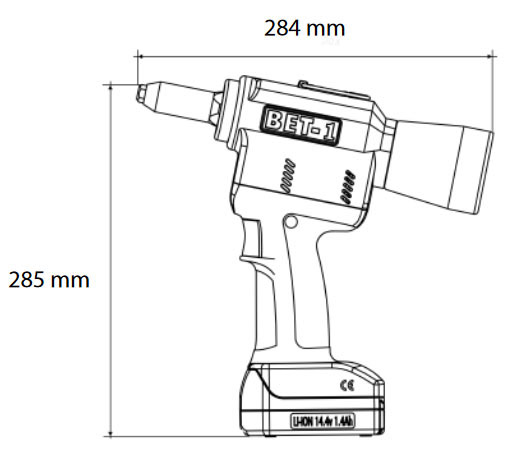 Remachadora eléctrica Bralo BET1