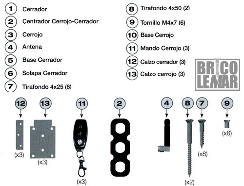componentes cerrojo supratronik