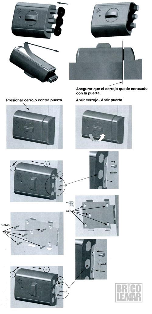 Instalación del cerrojo en la puerta