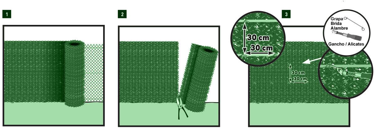 Instalación seto Greenset