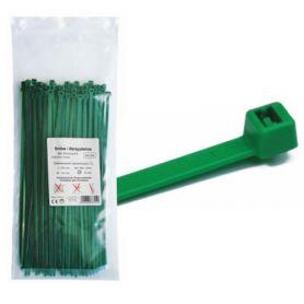 100x2.5 nylon verde della flangia sacchetto 100 Unità MercaTools