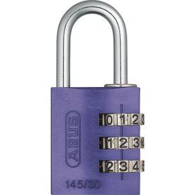serratura a combinazione 30 millimetri Abus lila
