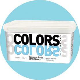 acqua di plastica blu dipingere 2,5 lt. matt interno Materis