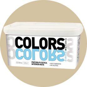 sabbia plastica beige dipingere 2,5 lt. matt interno Materis