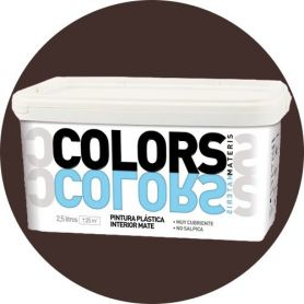 Pittura plastica intenso cacao 2,5 lt. matt interno Materis