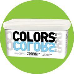 brillante di plastica verde vernice 2,5 lt. matt interno Materis