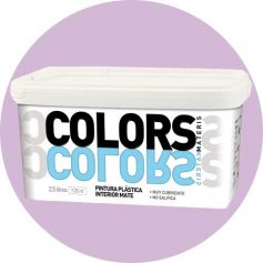 Vernice di plastica morbida lilla 2,5 lt. matt interno Materis