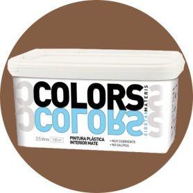 Media plastica marrone dipingere 2,5 lt. matt interno Materis