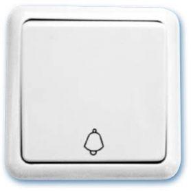 Bianco tasto campanello 65x65mm 10A 250V superficie GSC Evolution
