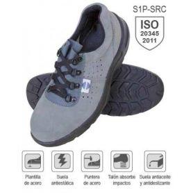 dimensione perforata di scarpe in pelle scamosciata 40 di sicurezza mod SA-325 Chintex