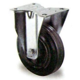 ruote con base fissa in gomma nera GSR Premium 80/25 Cascoo