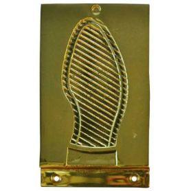 Battistrada piatto 147x98mm porta in ottone satinato Micel