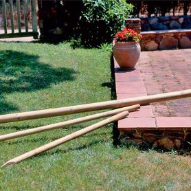 Intermas 1.5mt posta rotonda di legno altezza 6 centimetri