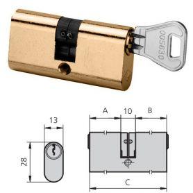 cilindro in ottone lucido 5963/2222/3 CVL destra