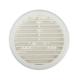 circolare griglia in plastica con zanzariera 100 mm bianchi kallstrong