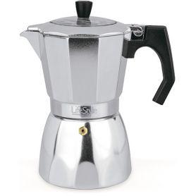 alluminio caffè italiano 9t coperchio trasparente lifestyle