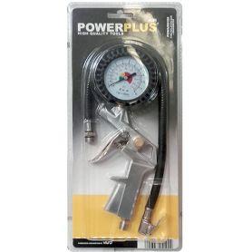 Inflator pistola PowerPlus Manometro