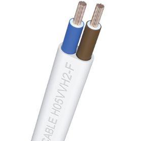 3x1mm tubo bianco piatto (rotolo 100 m) ibercable