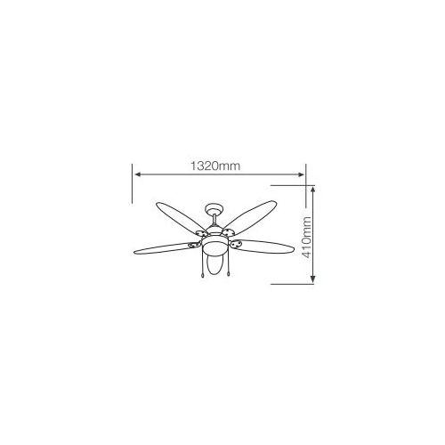 Ventilatore da soffitto con pale in legno chiaro 5 Garsaco  Bricolemar