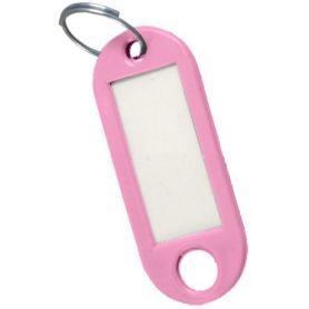 Portachiavi rosa etichetta (sacchetto 50 unità) cufesan