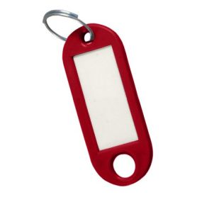 portachiavi rosso etichetta (sacchetto 50 unità) cufesan