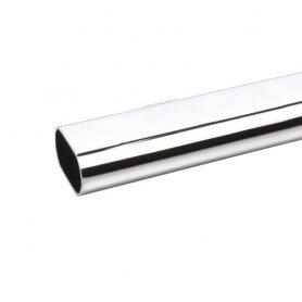 barra di alluminio cromato armadio 25x15mm 2 mt (9 und) bricotubo