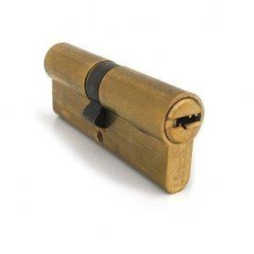 Sicurezza doppia 64 millimetri cilindro C2 (32x32mm) ottonato Lince